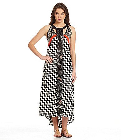 Collective Concepts MixedPrint Maxi Dress #Dillards