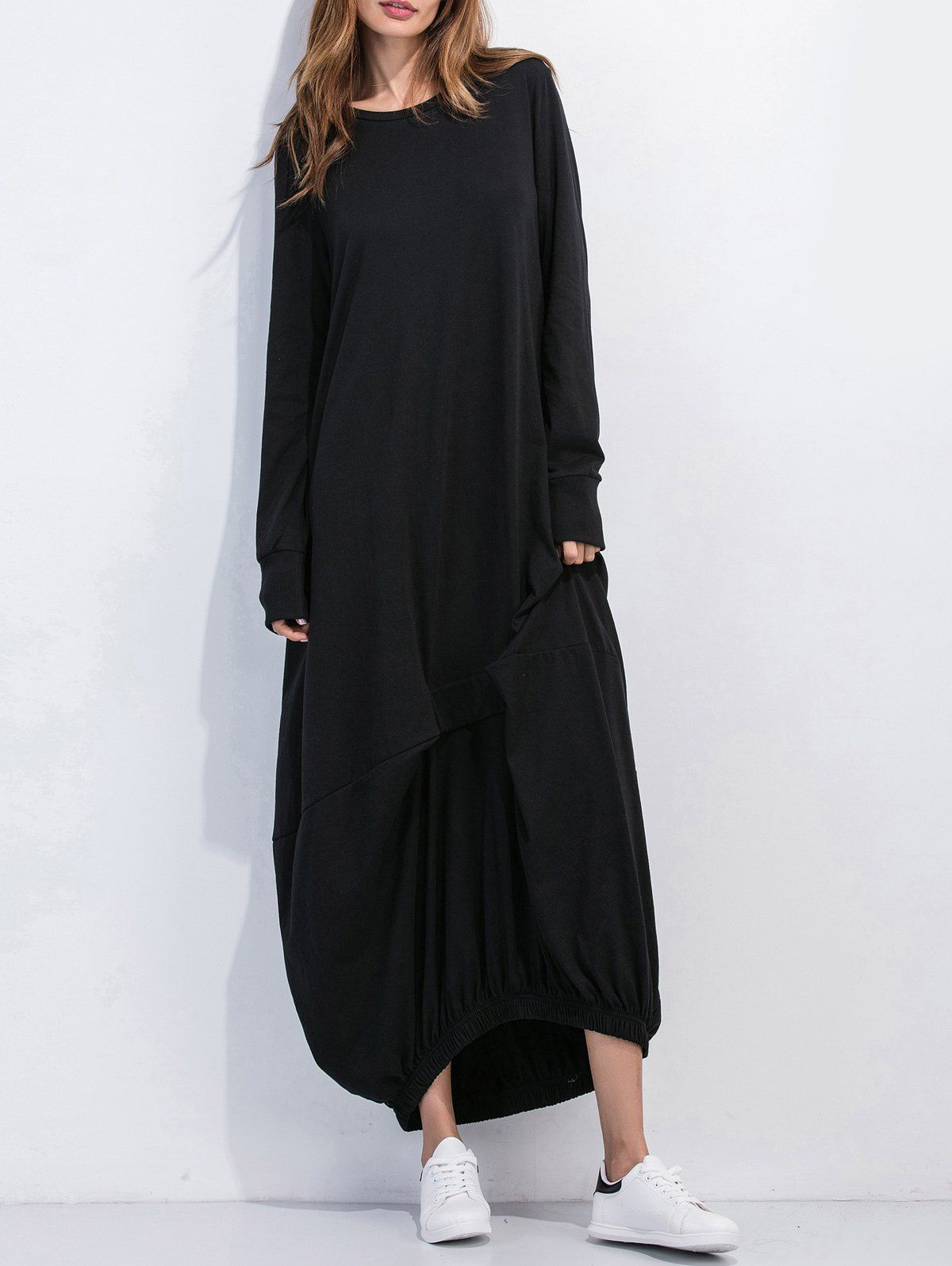 Oversized long sleeve maxi dress Платья pinterest long sleeve