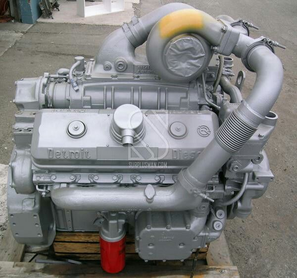 Silver 8v92 | Detroit diesel | Detroit diesel, Detroit, Diesel