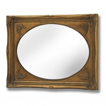 Bonsoni is proud to present this Oval Mirror With Rectangular Gilt ...