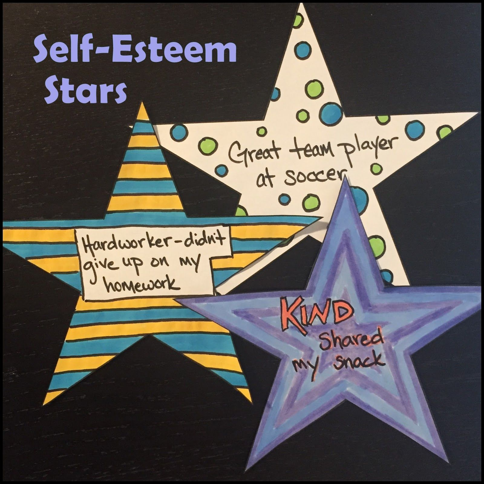 Self Esteem Stars An Activity To Build Confidence And Self Esteem Art Therapy Activities Self Esteem Activities Self Esteem [ 1600 x 1600 Pixel ]