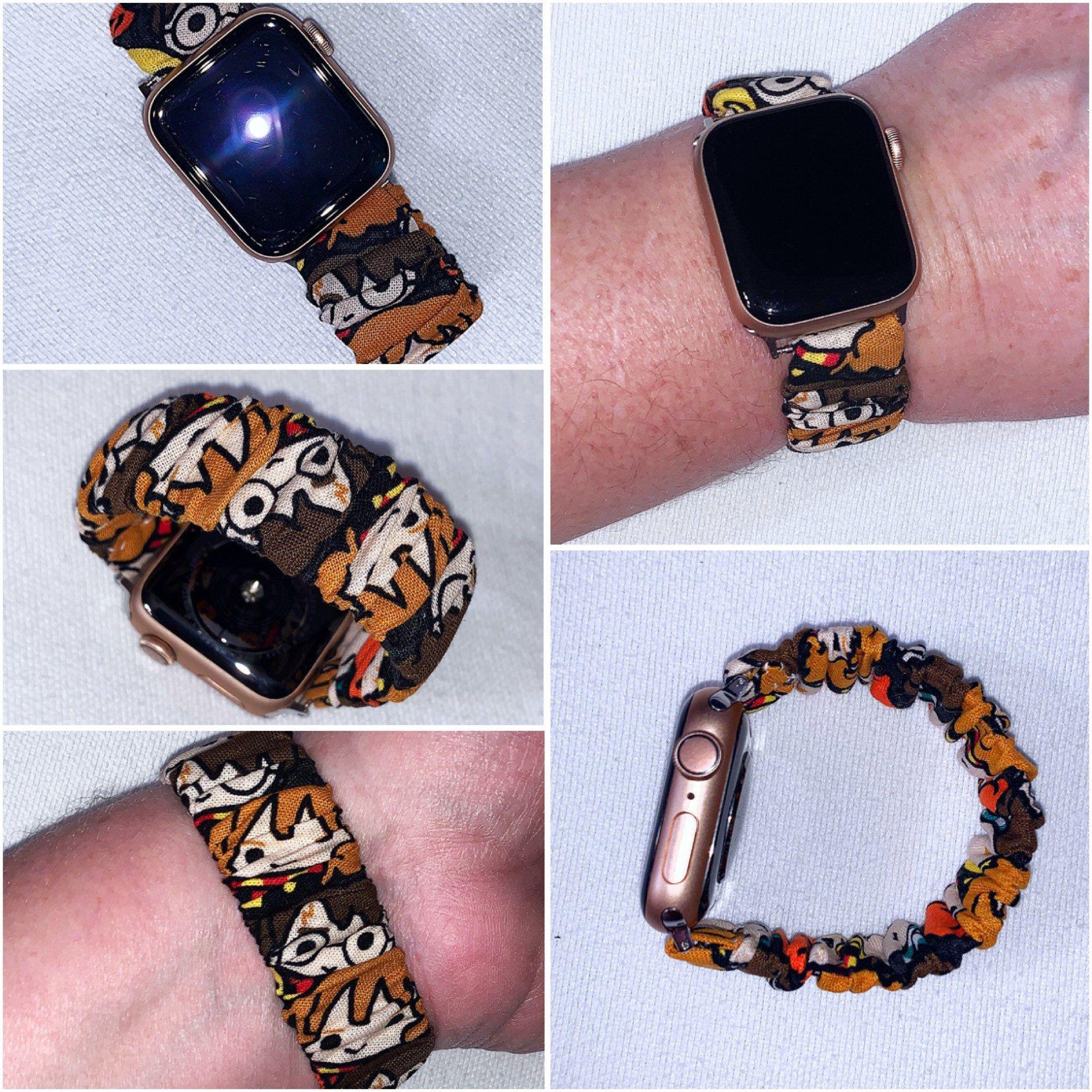 Harry Potter Apple Watch Fabric Bracelet Watch Band 38 40 42 44mm Series 1 2 3 4 5 Smart Watch Fabric Snap Closure Strap Hermione In 2020 Watch Bands Fabric Bracelets Beaded Leather Bracelet