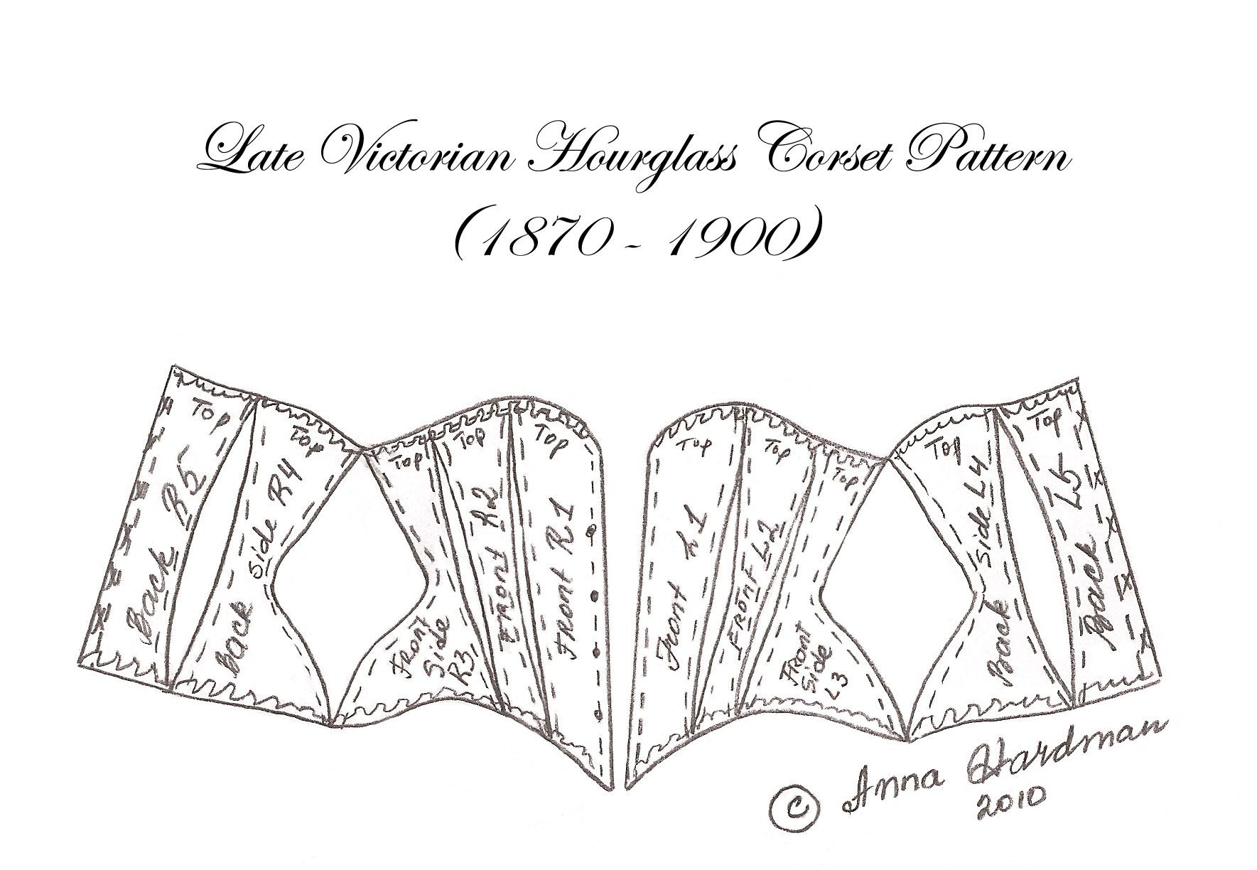 Miniature doll corset pattern By Anna Hardman | Patterns for doll ...