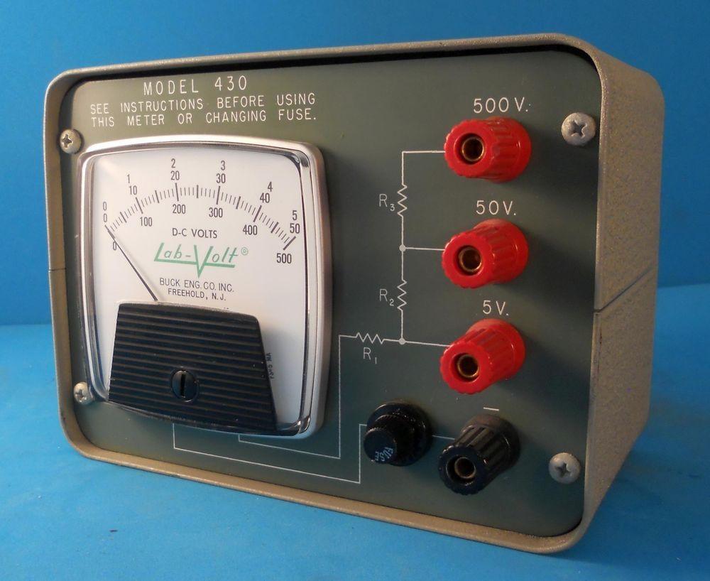 LABVOLT MODEL 430 500 VDC ANALOG VOLTMETER #BuckEngineeringCo
