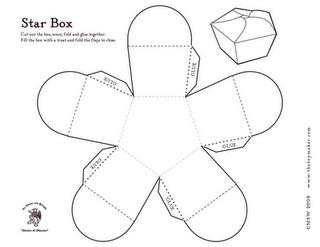 Quadrant Decorative Paper Box Template