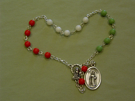 A guide for praying the Chaplet of St. Dymphna, patron Saint of those suffering from anxiety.