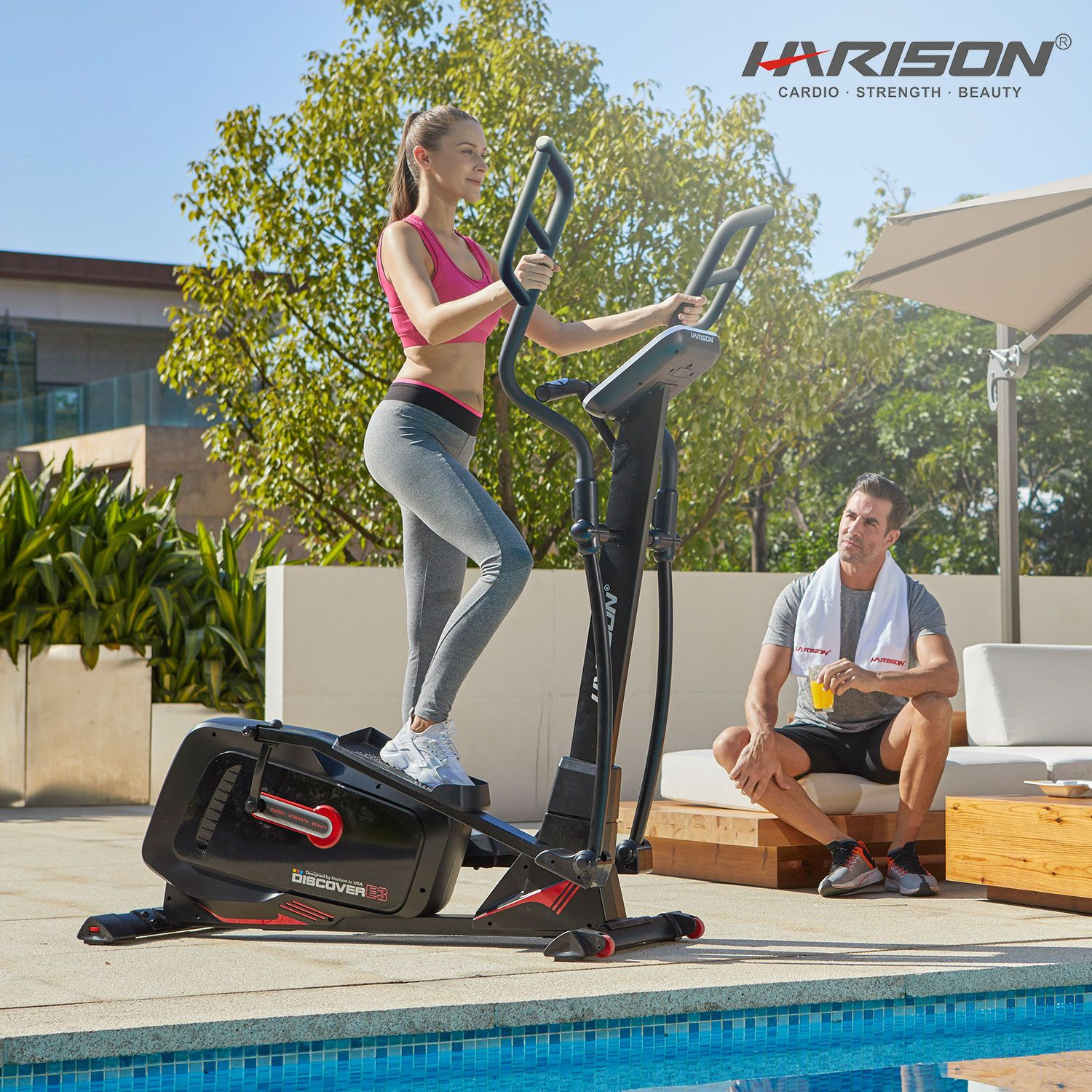 Harison Discover E3 Biking Workout Indoor Cycling Bike Elliptical Trainer