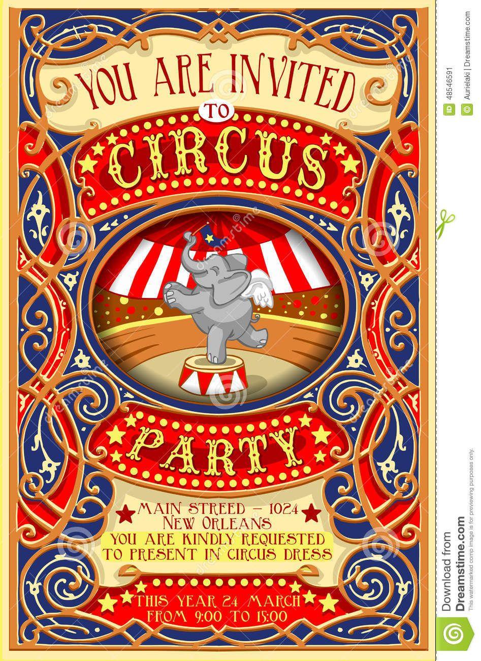 El Cartel Invita Para El Partido Del Circo Con Elephnant