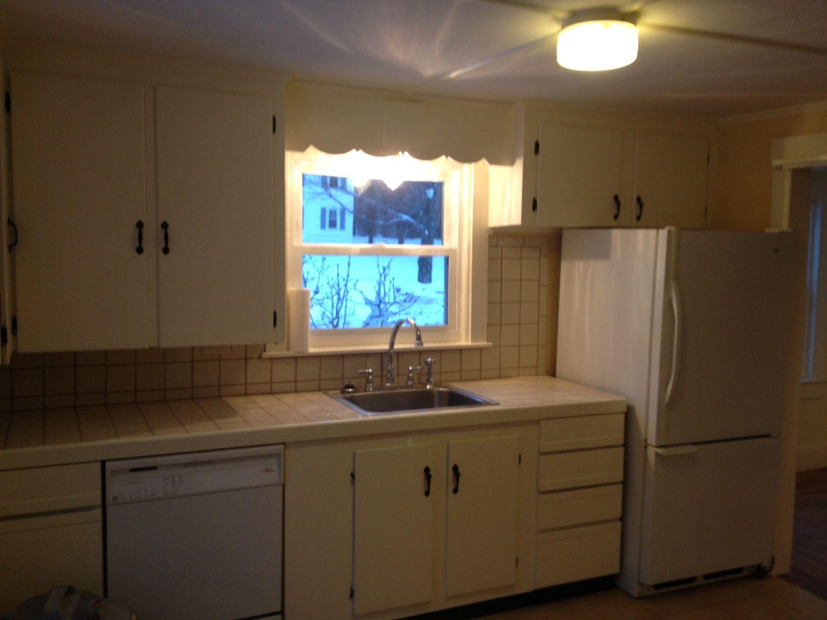 Newly renovated kitchen at 477 North Main rental.