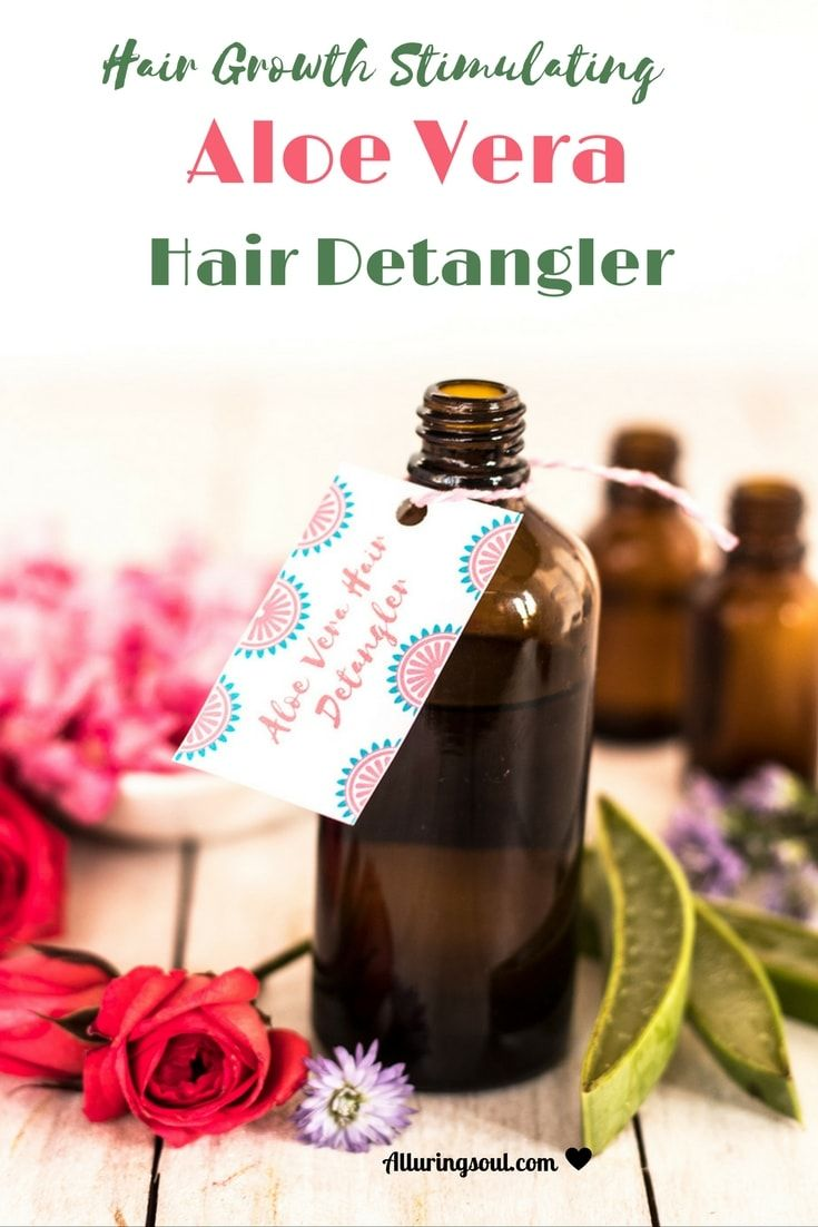 DIY hair detangler with aloe vera Hair detangler, Diy