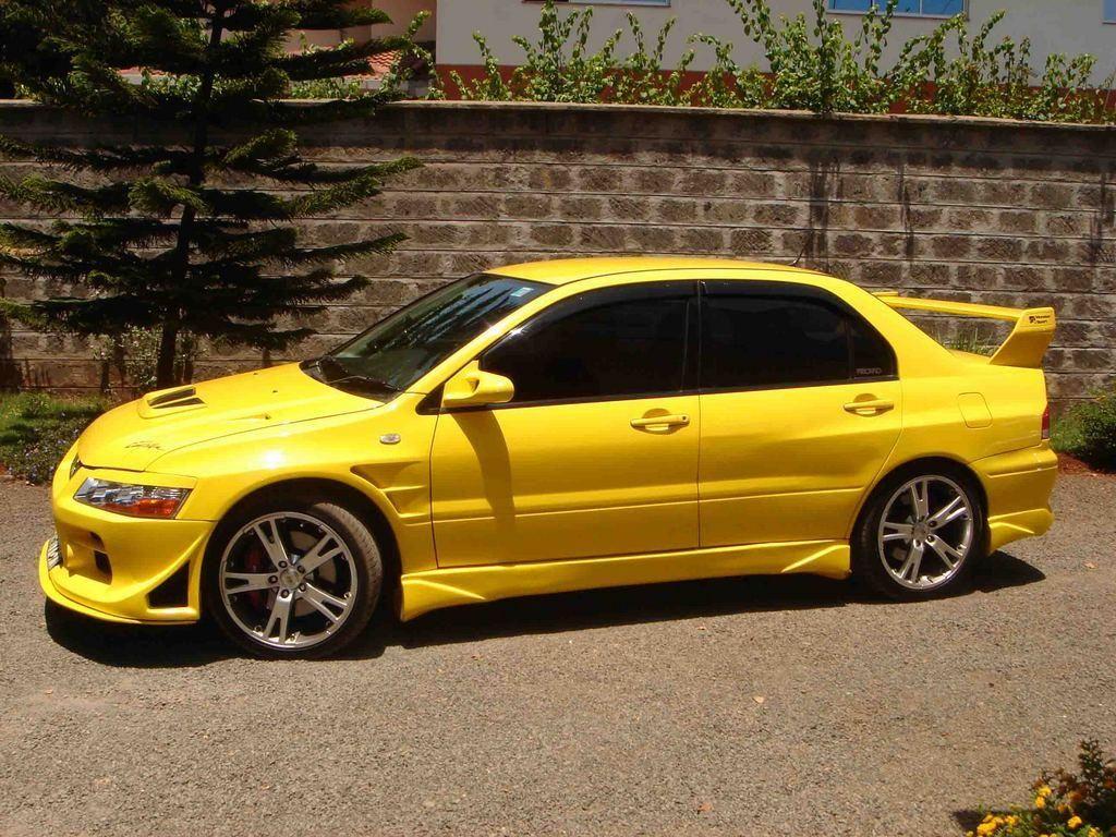 custom-yellow-mitsubishi-lancer | Tiny, Micro and Small Autos ...