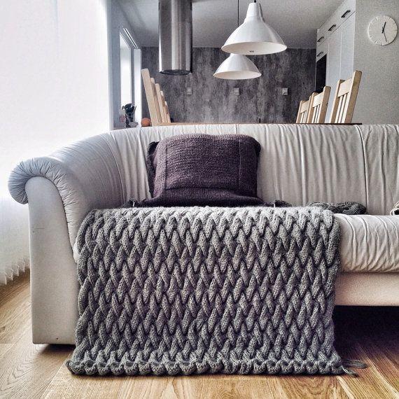 stricken stricken muster decke strickmuster von. Black Bedroom Furniture Sets. Home Design Ideas