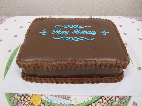 Chocolate Ganache Rectangular Birthday Cake With Images