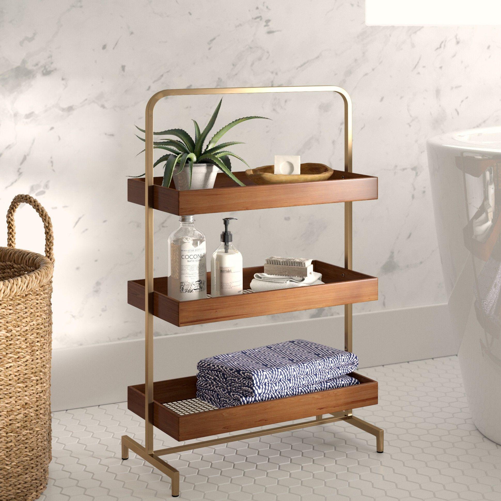 Bathroom Shelves Wayfair in 10  Shelves, Decor, Zen bathroom
