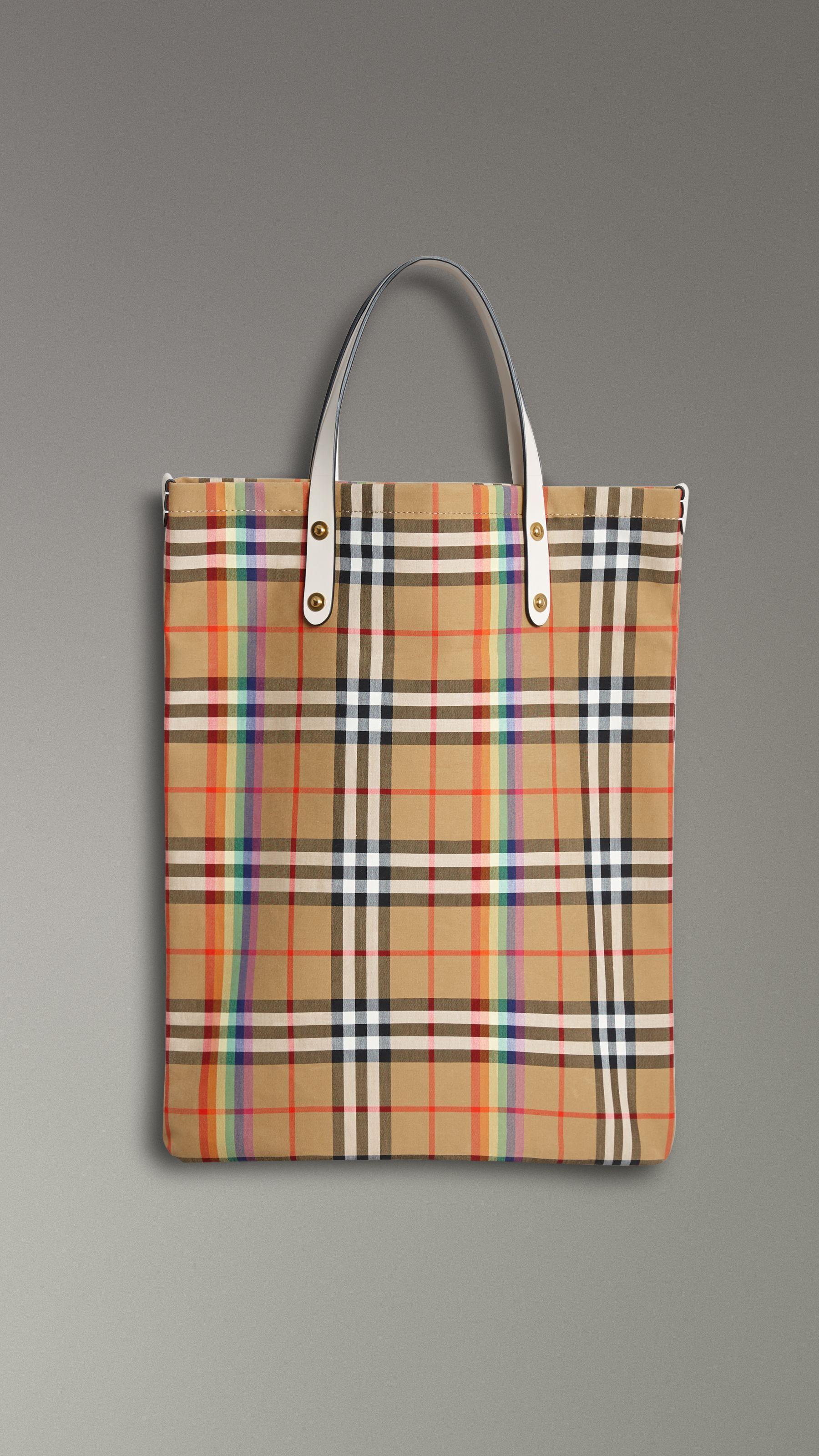 Rainbow Vintage Check Medium Shopper in Natural  529a1cc5b2b54