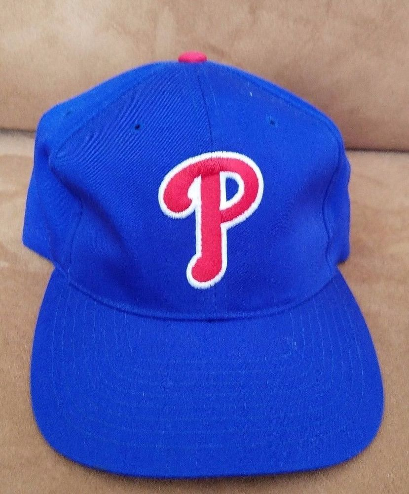 45df596a6 Details about New Adult Twill MLB Philadelphia Phillies Blue/Red