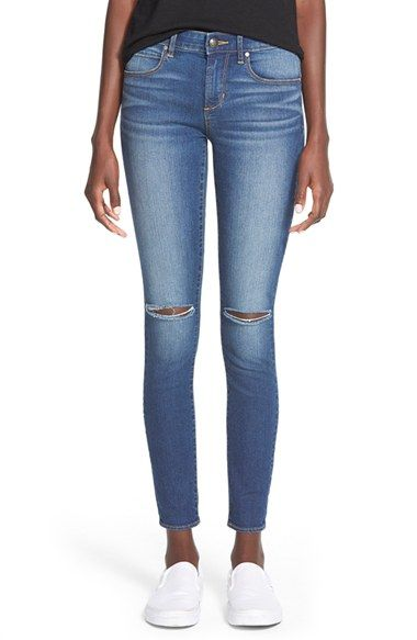 Articles+of+Society+'Sarah'+Distressed+Skinny+Jeans+(Dark+Wash)+available+at+#Nordstrom
