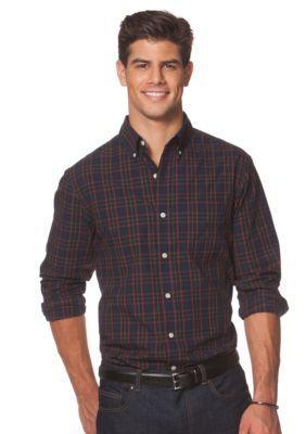 Chaps  Big  Tall Tartan Poplin Shirt