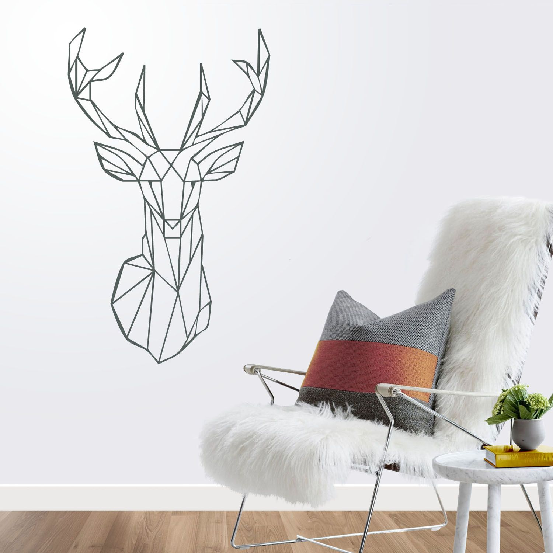 Vinilo ciervo para pared ideas decoraci n con cabezas de ciervo vinilo - Cabeza de ciervo decoracion ...