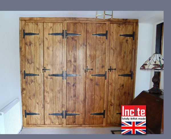 Rustic Chunky Plank Pine Fitted Wardrobe Custom Made By Incite Interiors Derby Makers Of Handmade Bespoke Bedroo Wardrobe Doors Fitted Wardrobes Pine Wardrobe