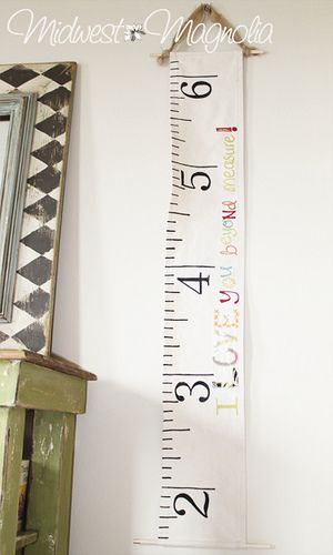 Handmade canvas growth chart just melissa crafts pinterest