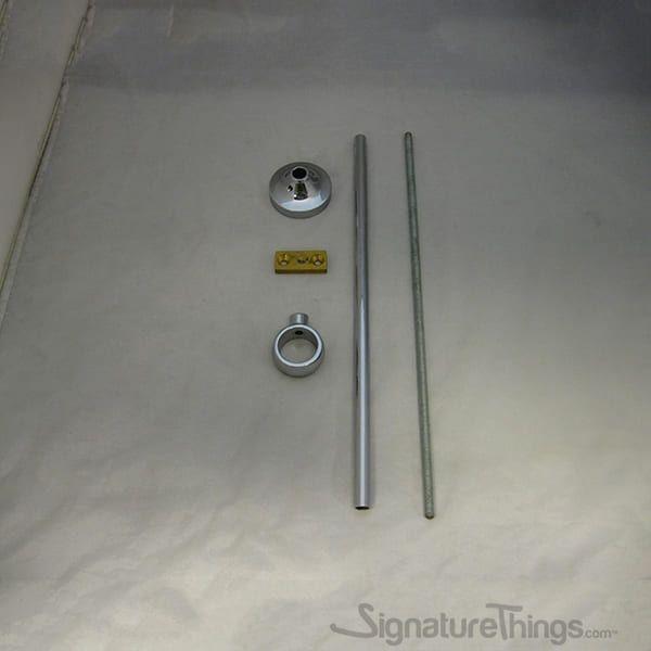 12 Adjustable Center Bracket Acrylic Curtain Rods Curtain Rod