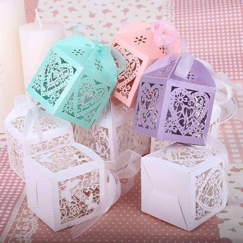 dusche 50 pc baby s igkeit kasten hochzeit bevorzugt k sten mit band geschenke f r g ste. Black Bedroom Furniture Sets. Home Design Ideas