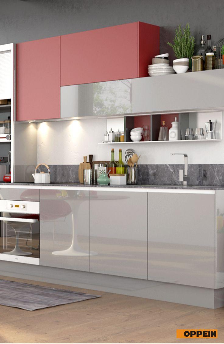 360cm Width Standard Kitchen Cabinet With Lacquer Finish Contemporary Kitchen Design Kitchen Design Contemporary Kitchen