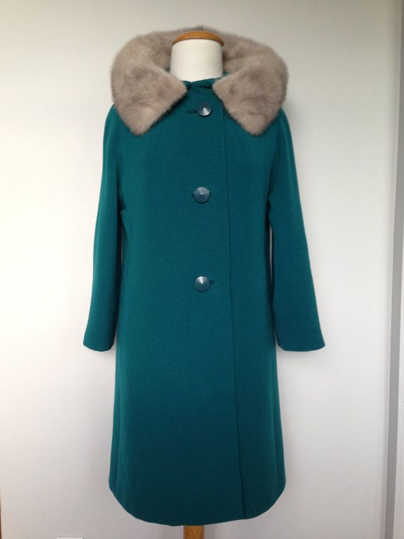 HOLIDAY WINTER WONDERLAND COAT!!! #VINTAGECHRISTMAS #HOLIDAYWEAR #ONEOFAKIND #GIFTS #VINTAGESELLER @Etsy @vintageeclectica Vintage Turquiose Green Fall Winter Mad Men by VintageEclectica