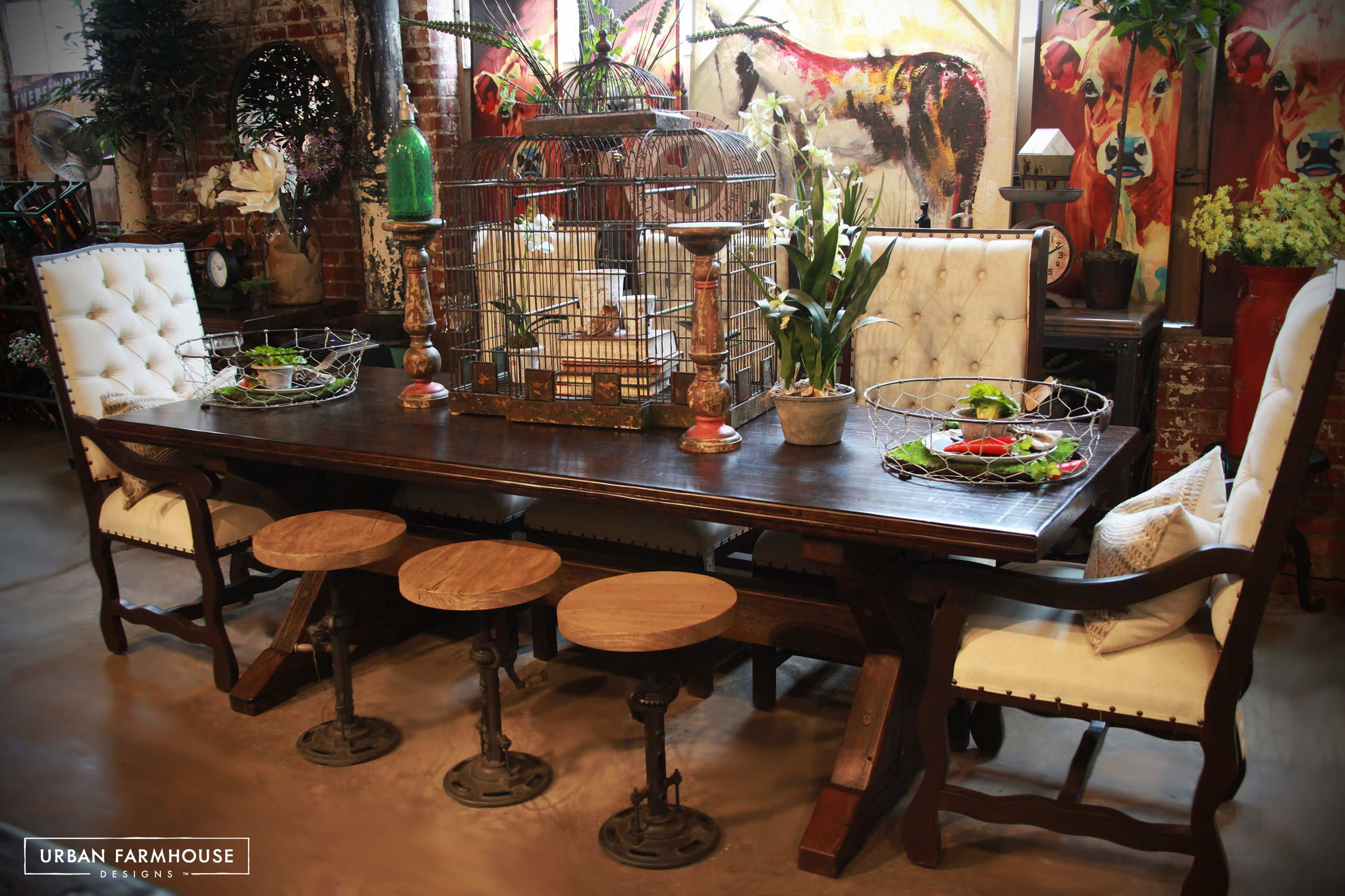 This 10 foot Farmhouse Table will fit ALL of the family and will be