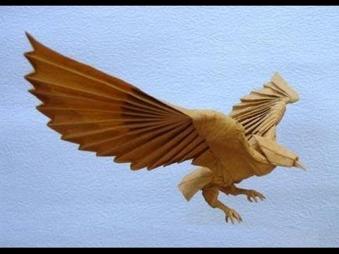 Origami Eagle Instructions Diagram Ford Wiring For Trailer Plug 3d Hawk Assembly Tutorial Youtube