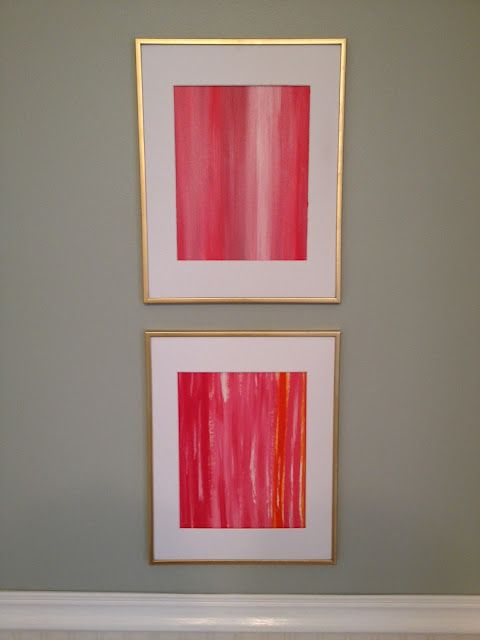 cheap and easy art via Richmond Thrifter.  Love those colors!