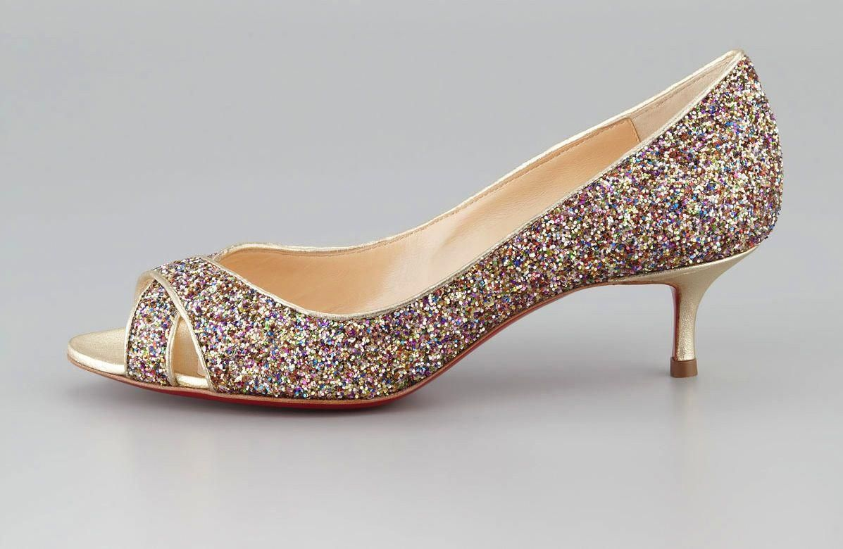 lowest price 4c92a 043ea Low Heeled Wedding Shoes for Tall Brides Sparkly Christian ...