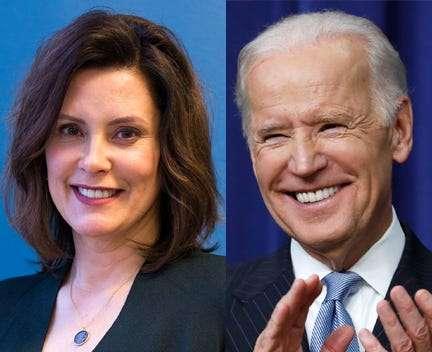 Joe Biden Says Gov Gretchen Whitmer Is On His Vice Presidential List In 2020 Joe Biden Presidential List Of Presidents