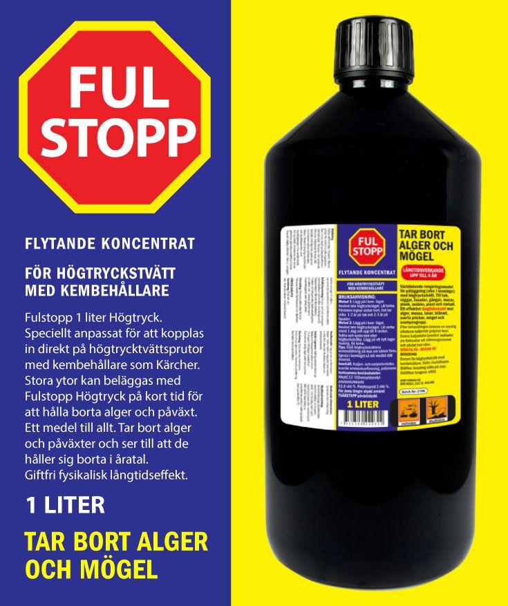 Speciellt anpassat för att kopplas in direkt på högtrycktvättsprutor med kembehållare som Kärcher. Stora ytor kan beläggas med Fulstopp Högtryck på kort tid för att hålla borta alger och påväxt. Ett medel till allt.
