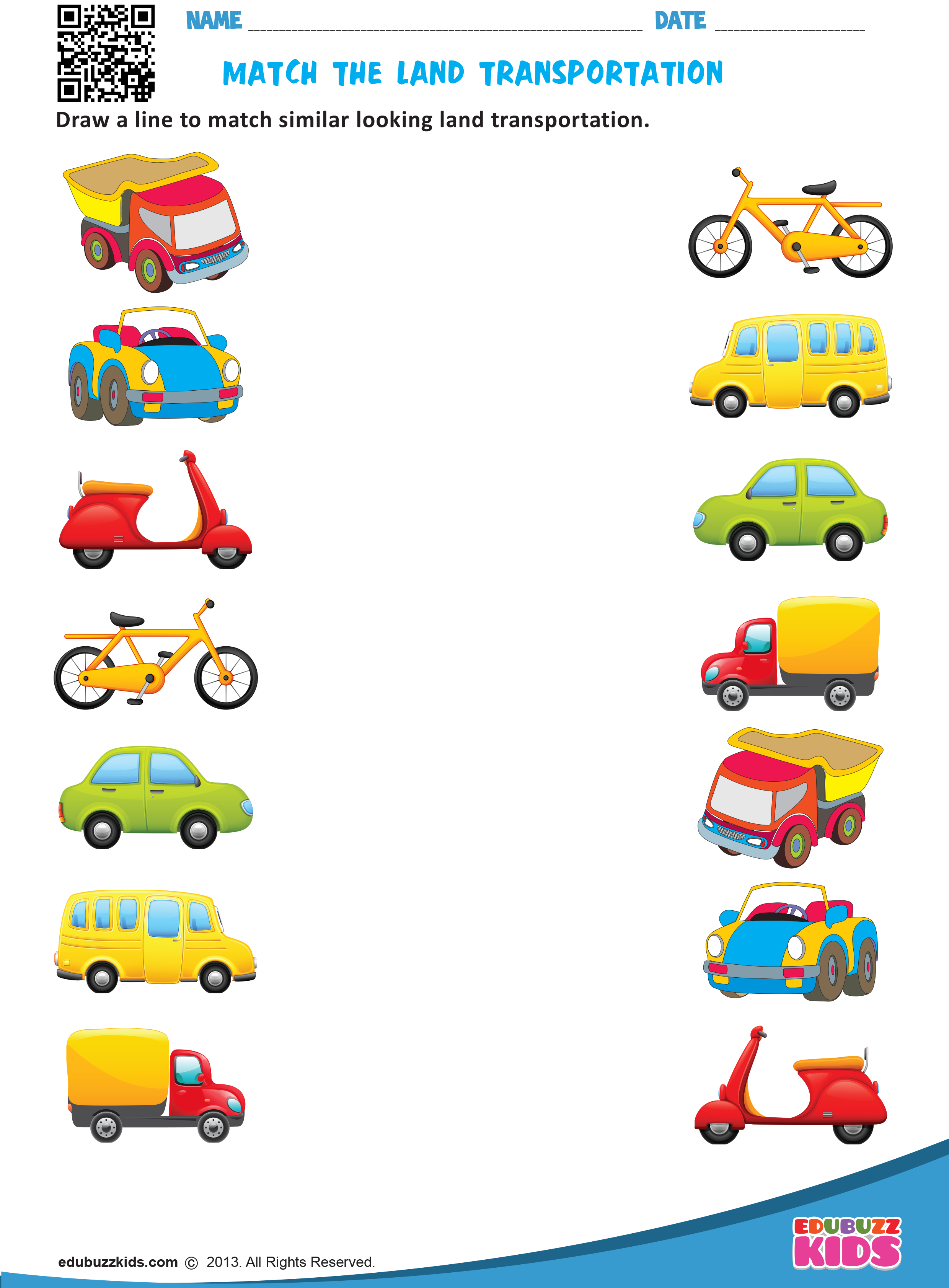 Kindergarten Transportation Worksheets That Allow Kids To