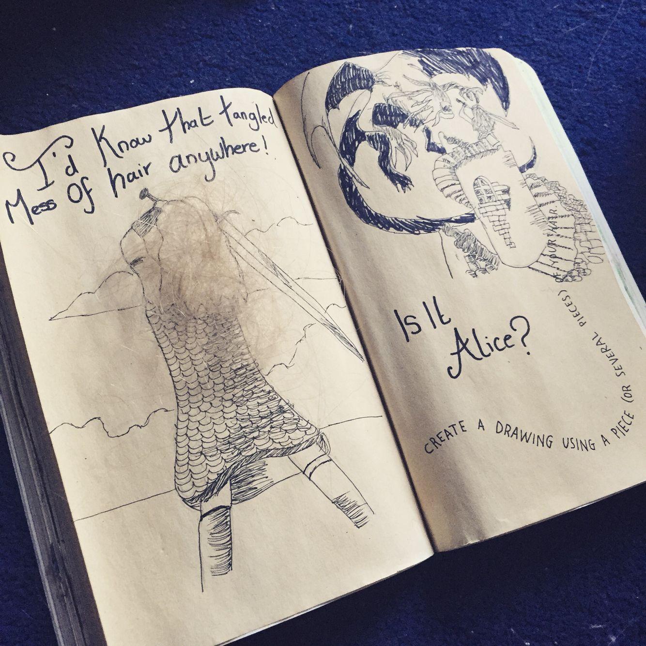 #wreckthisjournal #wreckbook #wreckit #kerismith #alice #wonderland #aliceinwonderland