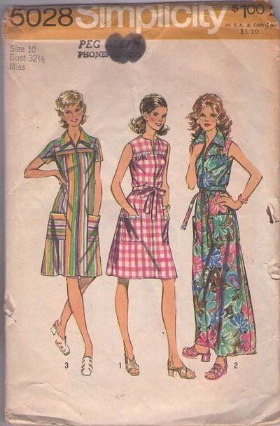 43bb3116242d1 MOMSPatterns Vintage Sewing Patterns - Simplicity 5028 Vintage 70 s Sewing  Pattern FAB Mod Rero Waitress Front Zipped Dress