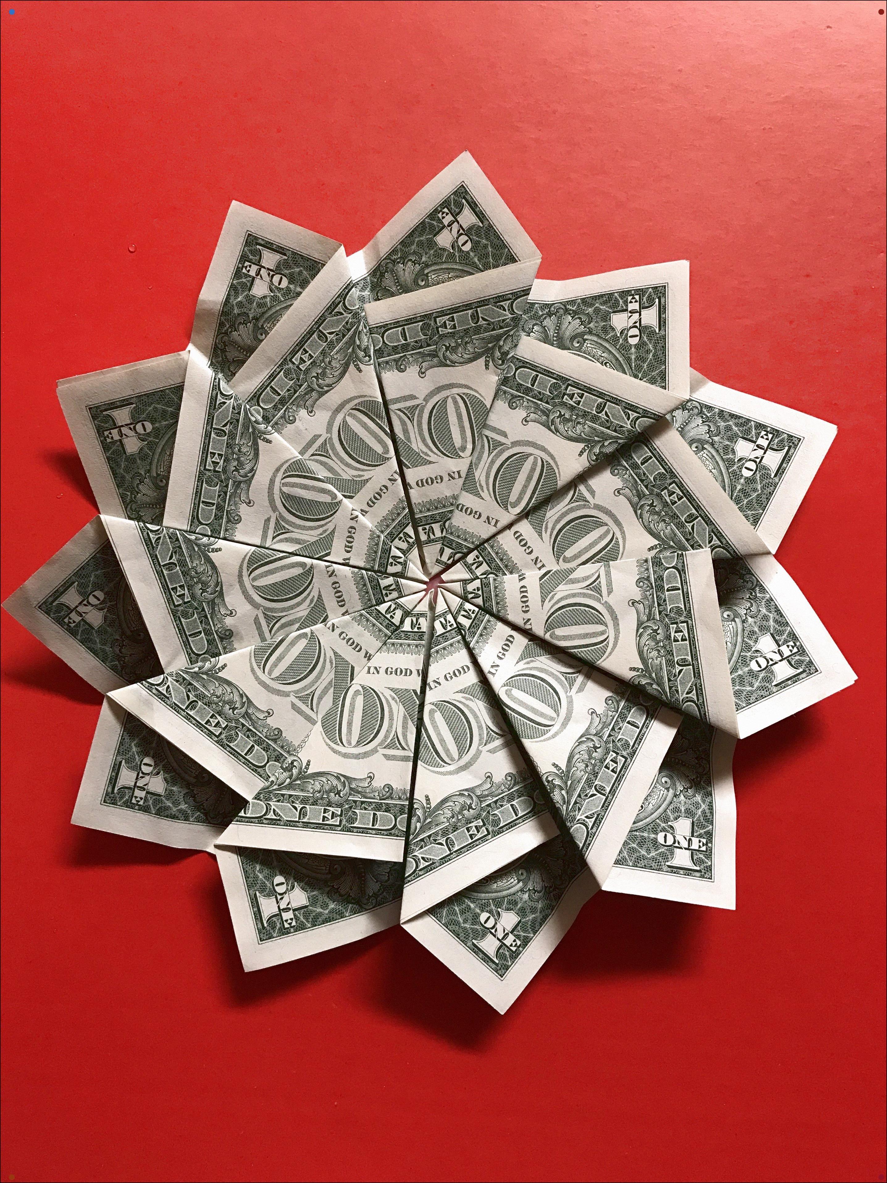 Money Flower In 2020 Money Origami Dollar Bill Origami Dollar Origami