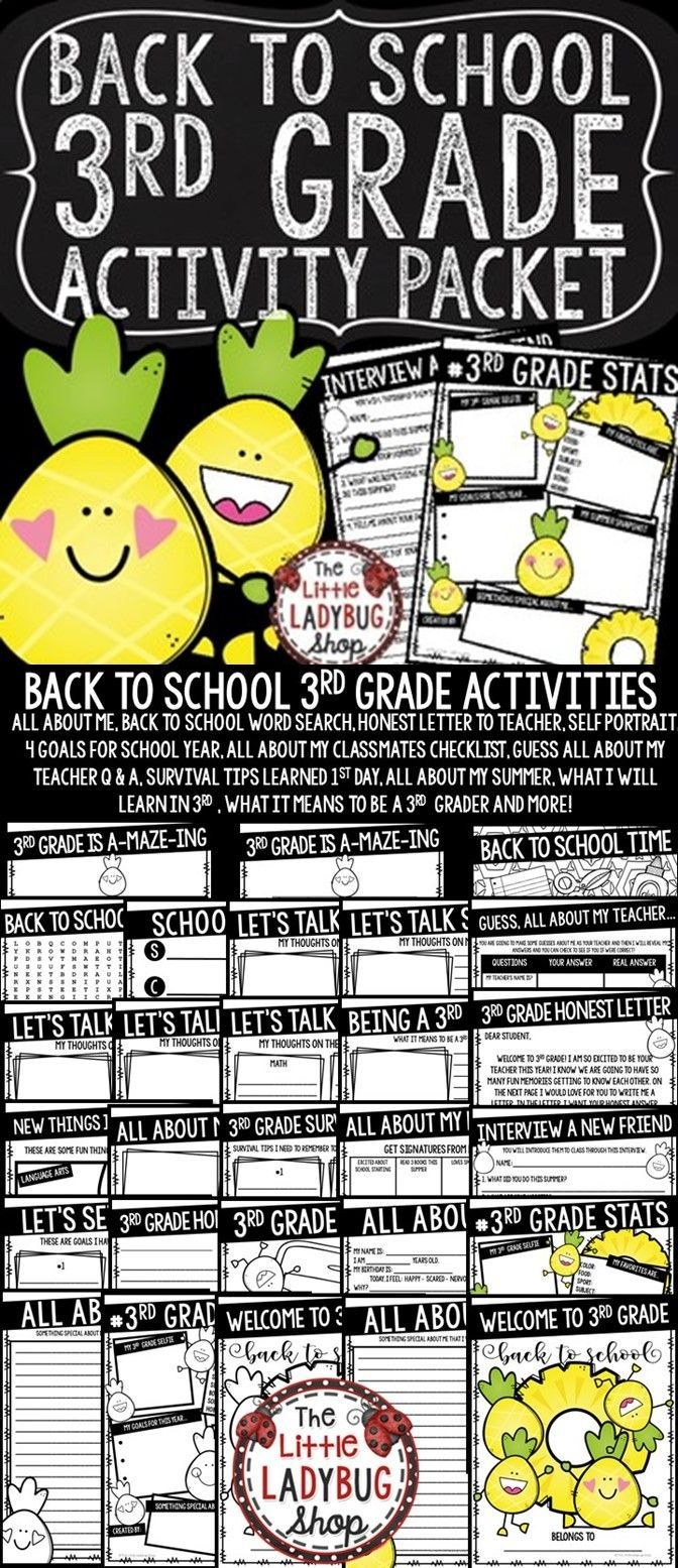 Pineapple Theme Back To School Activities 3rd Grade All