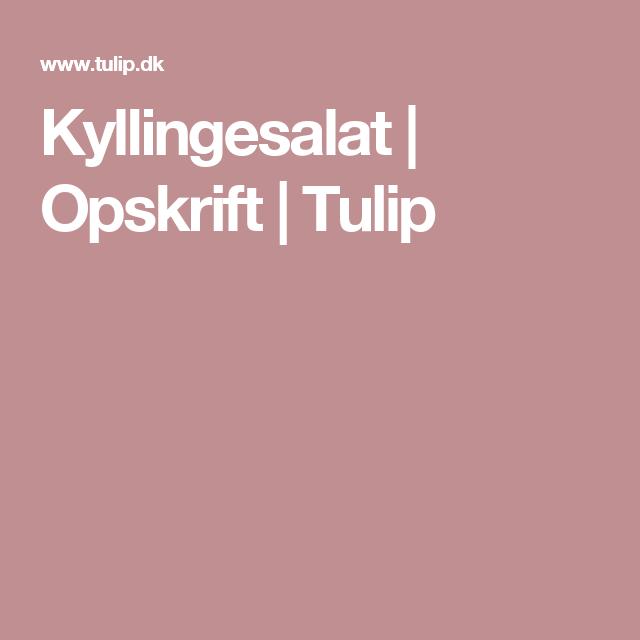 Kyllingesalat   Opskrift   Tulip