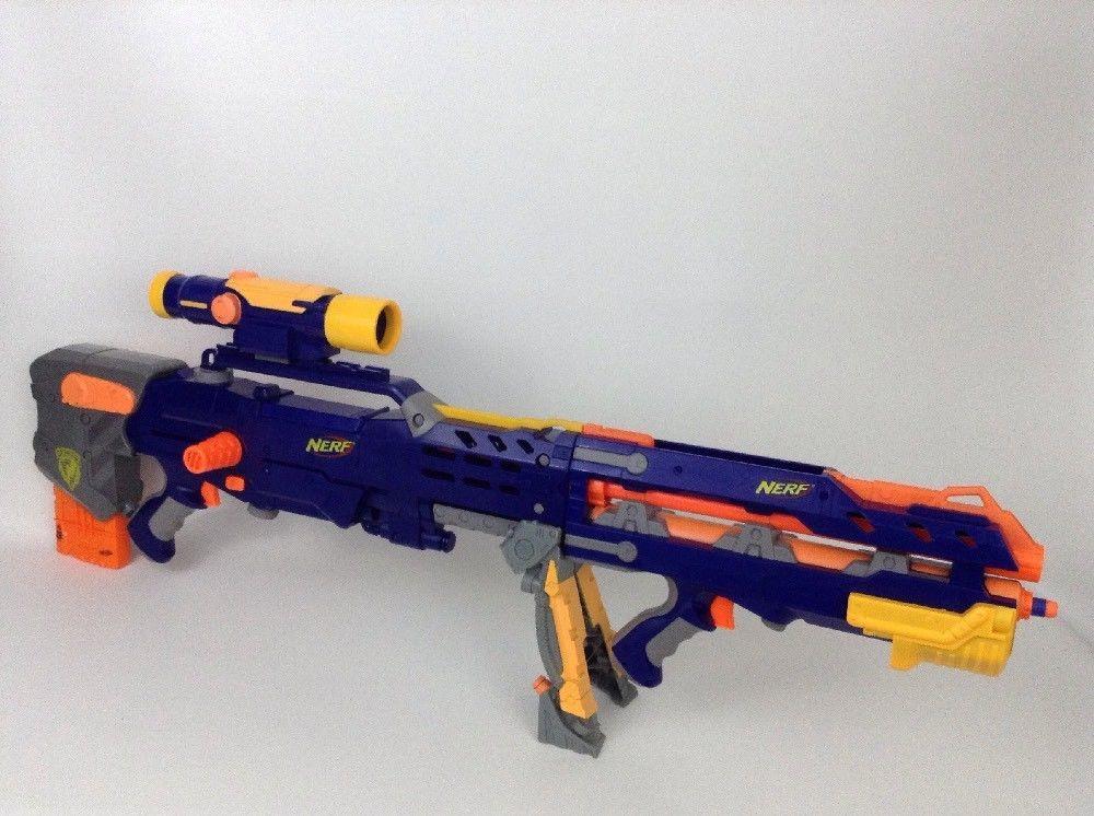 Nerf Gun Longshot CS-6 2006 LOT N-Strike Dart Rifle w/ Scope Darts