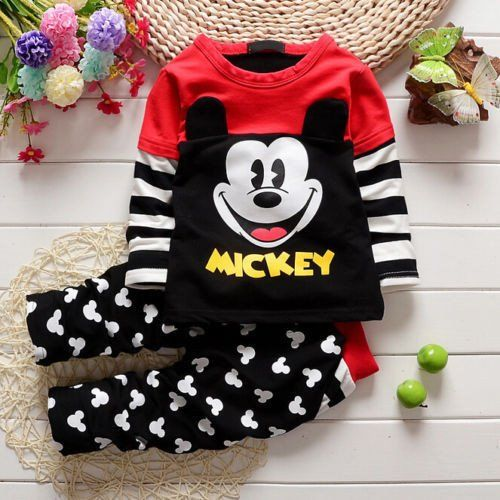 8220623fbd6e3 New long sleeve Mickey Mouse Outfit for Toddler boy or girl | Disney ...