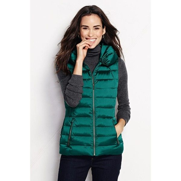 Cheap Wide Range Of Womens Petite Velour Gilet - 10 -12 - Green Lands End Sale Recommend H9Fzlr