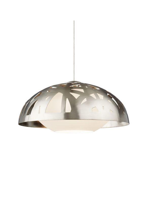 Tech Lighting 700TDVNTGP Ventana Grande Line-Voltage 1 Light Metal Dome Shaped P Satin Nickel Indoor Lighting Pendants Line Voltage