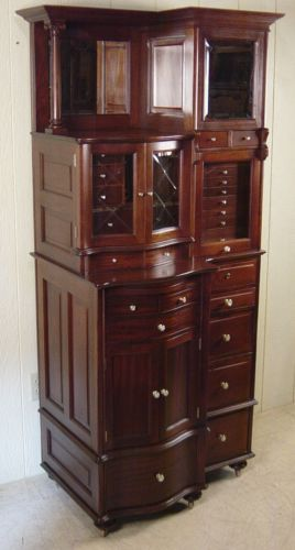 Antique Mahogany Ransom Randolph Co Dental Cabinet Model 66 Stuff