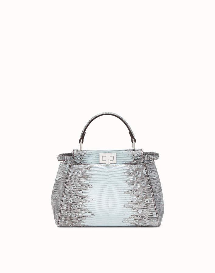 55fc1851 ShopStyle Collective   Bags   Fendi, Fendi peekaboo mini, Blue lizard
