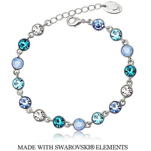 Náramok s kryštálmi Swarovski Elements Rivoli Mini Blue  c061056af53