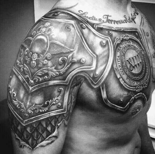 Pin By B K On Tattoo U Shoulder Armor Tattoo Body Armor Tattoo Armor Tattoo