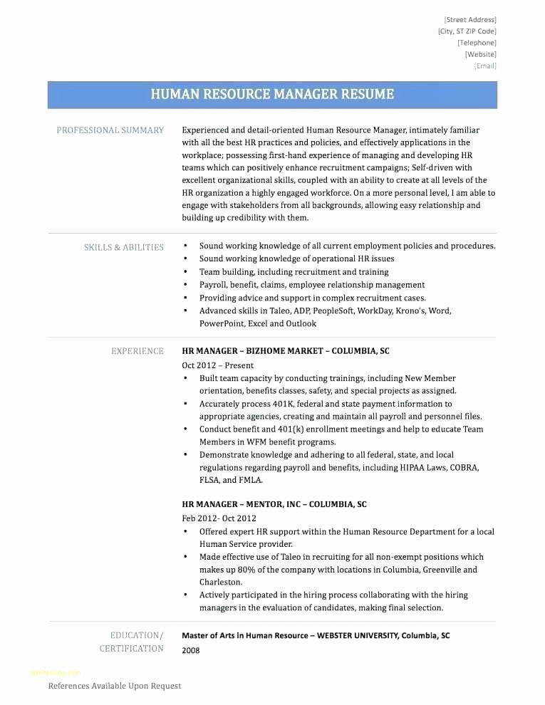 Resume Format Entry Level Human Resources Resume Entry Level Resume Hr Resume